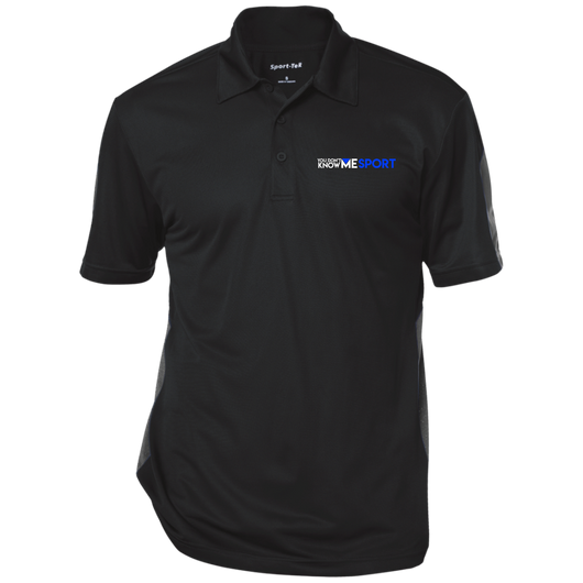 You Don't Know Me Sport Logo (w) - Performance Textured Three-Button Polo