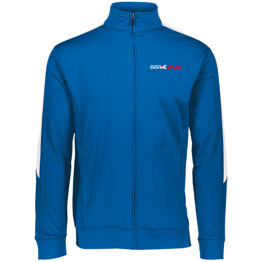 YDKM Sport Logo - Youth Performance Colorblock Full Zip {Royal Blue, White & Red}
