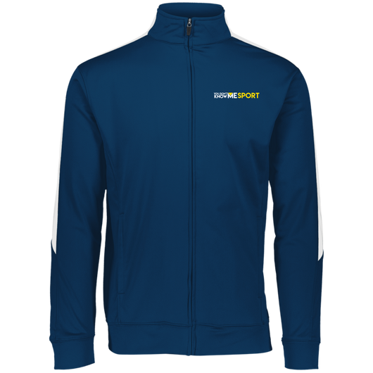 YDKM Sport Logo - Youth Performance Colorblock Full Zip {Blue & Gold}