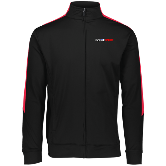 YDKM Sport Logo (red) - Performance Colorblock Full Zip
