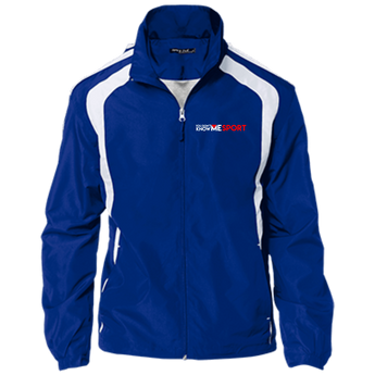YDKM Sport Logo - Youth Colorblock Jacket {Royal Blue, White & Red}