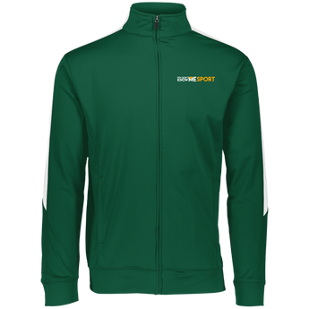 YDKM Sport Logo - Youth Performance Colorblock Full Zip {Green & Orange}