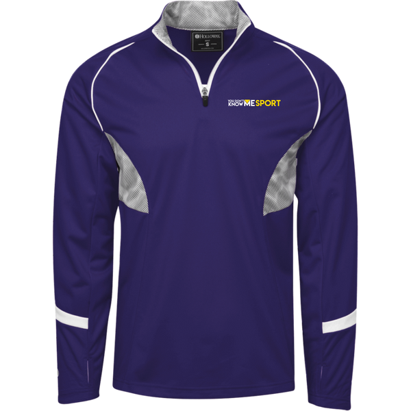 YDKM Sport Logo - 1/4 Zip Polyester Pullover with Camo Inserts {Purple, Grey, Whild & Gold}