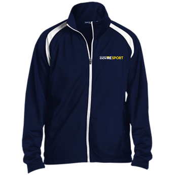 YDKM Sport Logo - Youth Warm Up Jacket {Blue & Gold}