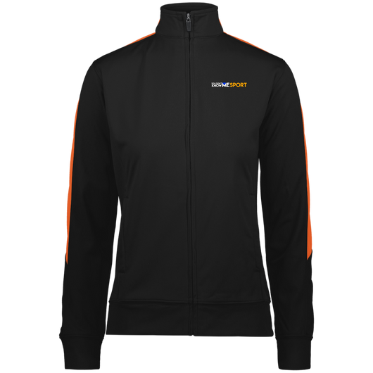 YDKM Sport Logo (orange) - Ladies' Performance Colorblock Full Zip