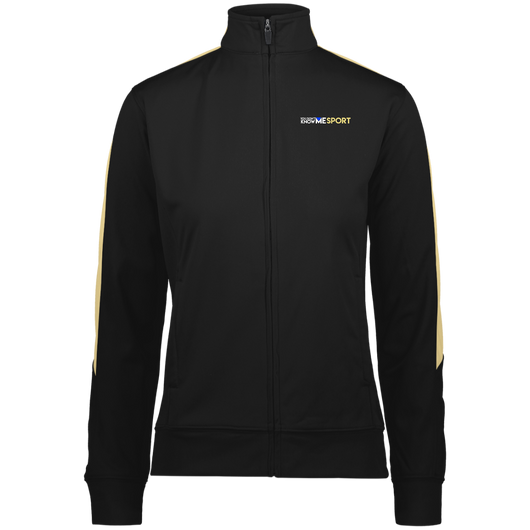 YDKM Sport Logo (vegas gold) - Ladies' Performance Colorblock Full Zip