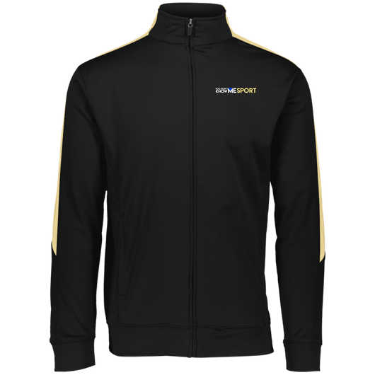 YDKM Sport Logo (vegas gold) - Performance Colorblock Full Zip