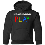 YDKM KIDS - Live Laugh Love Learn PLAY - Toddler Pullover Hoodie {6 Colors}