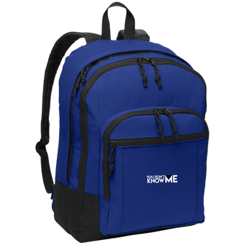 You Don't Know Me Logo Basic Backpack (Twilight Blue)