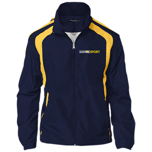 YDKM Sport Logo - Youth Colorblock Jacket {Blue & Gold}