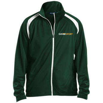 YDKM Sport Logo - Youth Warm Up Jacket {Green & Orange}