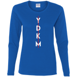 YDKM Vert Stroke -  Ladies' Cotton LS T-Shirt