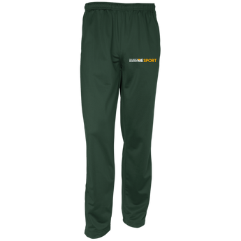 YDKM Sport Logo - Youth Warm-Up Track Pants {Green & Orange}