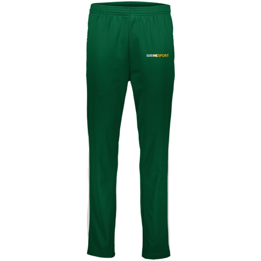 YDKM Sport Logo - Youth Performance Colorblock Pants {Green & Orange}