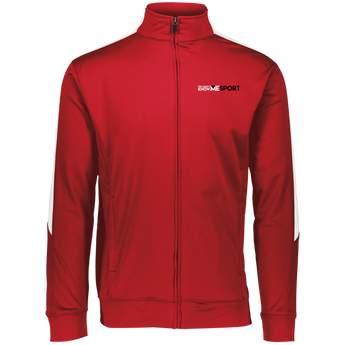 YDKM Sport Logo - Youth Performance Colorblock Full Zip {Red, White & Black}