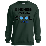 YDKM KIDS - Kindness Is The New Cool - Youth Crewneck Sweatshirt {12 Colors}