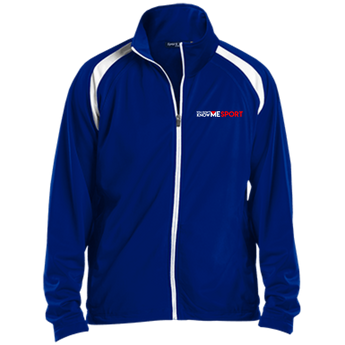 YDKM Sport Logo - Youth Warm Up Jacket {Royal Blue, White & Red}