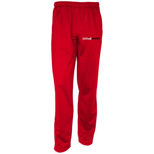 YDKM Sport Logo - Youth Warm-Up Track Pants {Red White & Black}