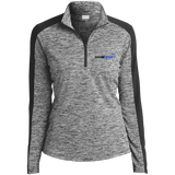YDKM Logo (b) Ladies' Electric Heather Colorblock 1/4-Zip Pullover