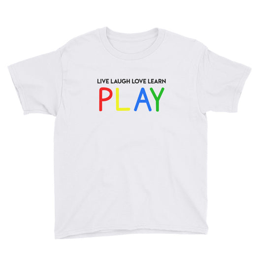 YDKM Kids - Live Laugh Love Learn PLAY - (Unisex) Short Sleeve T-Shirt {10 Colors}