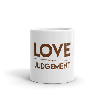 Love Over Judgement Mug (Brown)