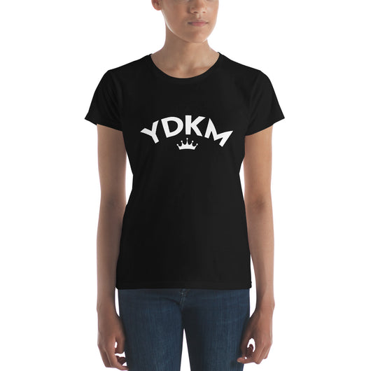 Women's short sleeve YDKM Crown w T-Shirt