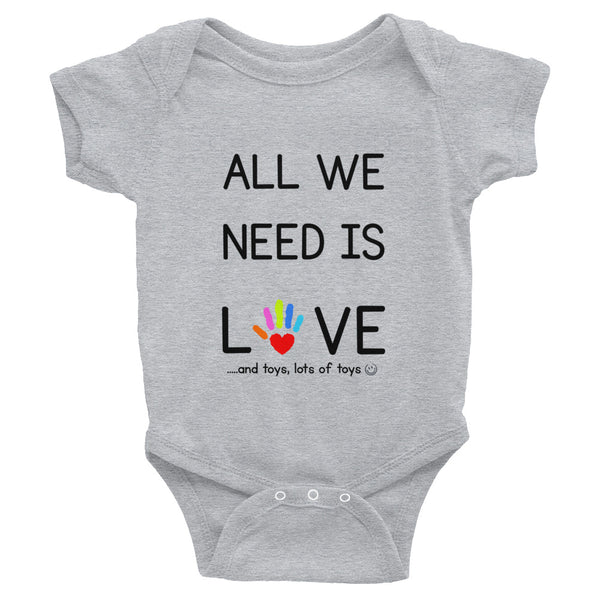 YDKM KIDS - All We Need Is Love - (Unisex) Baby Bodysuit {3 Colors}