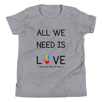 YDKM KIDS - All We Need Is Love - (Unisex) Youth Short Sleeve T-Shirt {2 Colors}