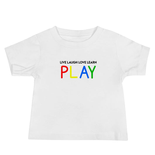 YDKM Kids - Live Laugh Love Learn PLAY - (Unisex) Short Sleeve Baby Tee {3 Colors}