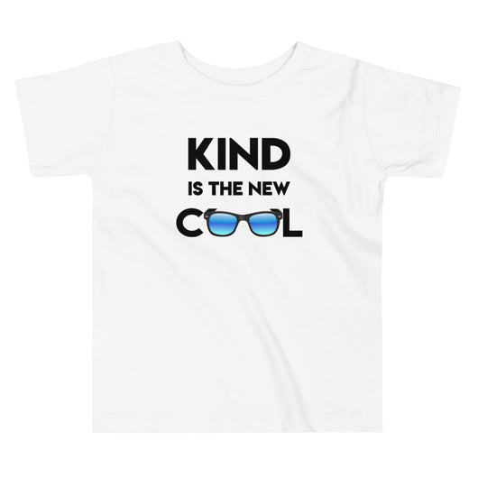 YDKM KIDS - Kind Is The New Cool - (Unisex) Toddler Short Sleeve Tee {White}