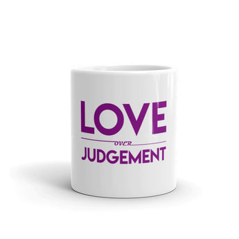 Love Over Judgement Mug (Purple)