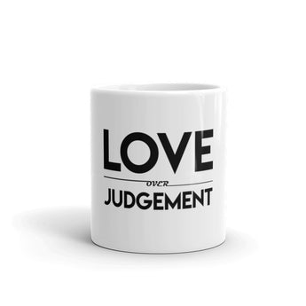 Love Over Judgement Mug (blk)