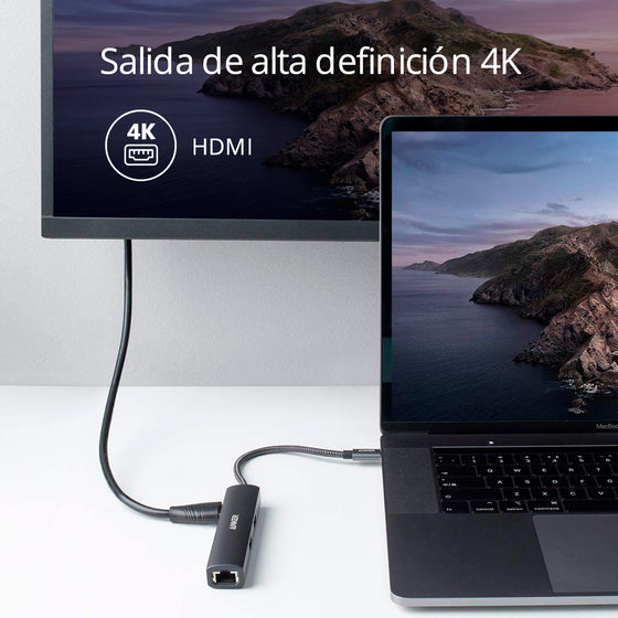 Hub Power expand+ 5 puertos en 1 USB-C