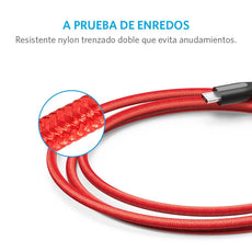 Cable PowerLine+ Micro USB 0.9m Rojo
