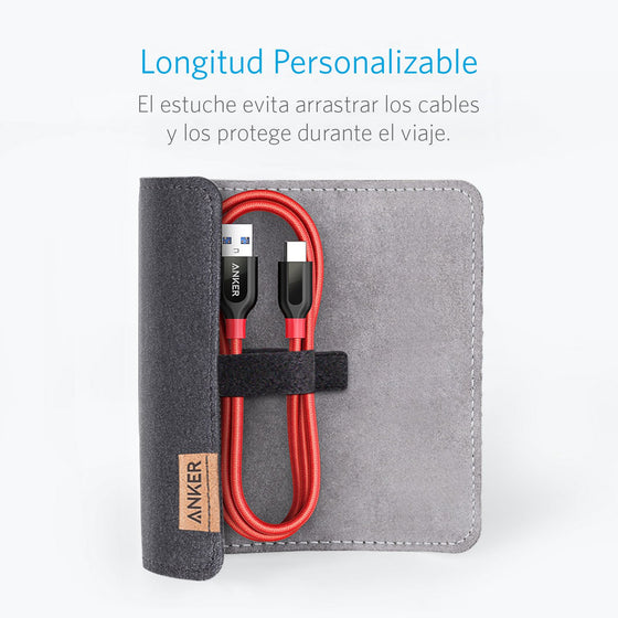 Cable PowerLine+ USB-C a USB-A 3.0 0.9m Rojo