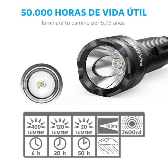 Linterna LED LC40 Bolder Recargable