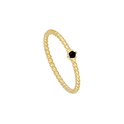 Anillo Belt Black Gold