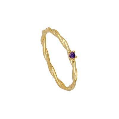Twist Violet Gold Ring