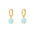 Happy Blue Gold Earrings