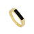 Ba Black Gold Ring