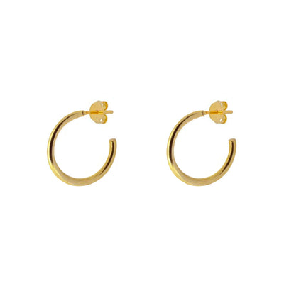 Lao 20mm Gold Earring