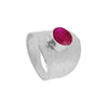 Olivia Pink Silver Ring