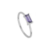 Silver Tame Violet Ring