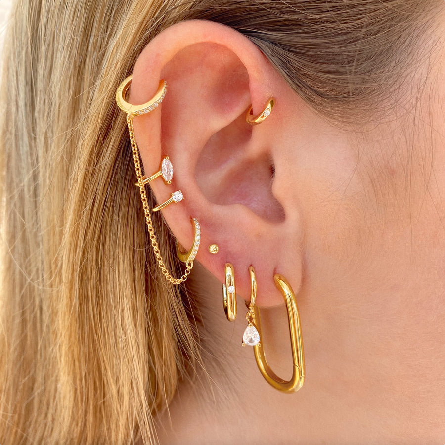 Big Bari Gold Earrings