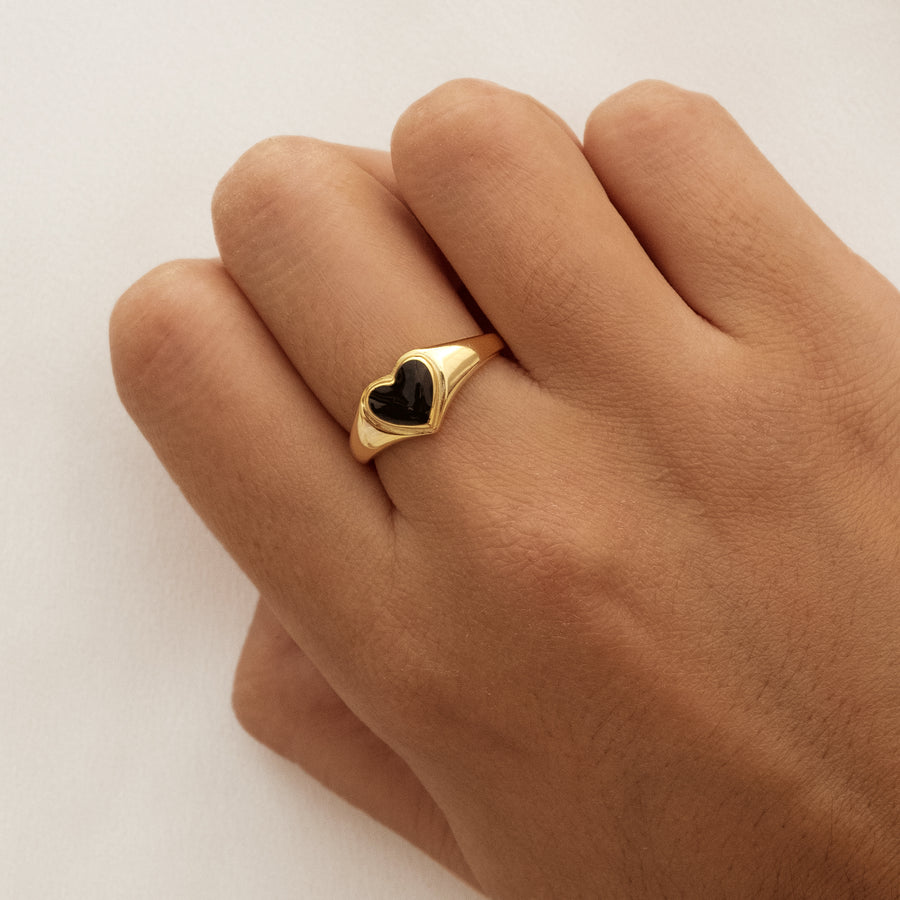 Anillo Amour Black Gold