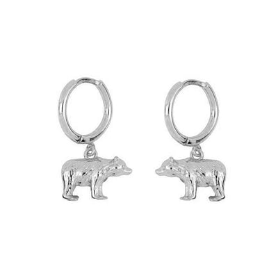 Bear Silver Earrings