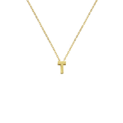 Small Letter Gold Necklace