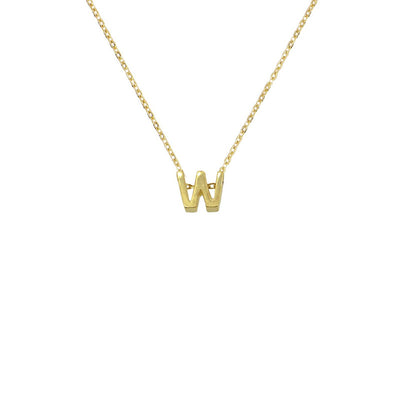 Collar Small Letter Gold