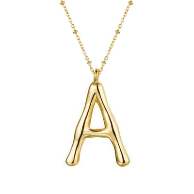 Collar Big Letter Gold