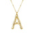 Big Letter Necklace Gold